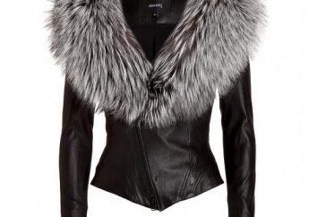 giacca invernale in pelle con pelliccia – un colpo della prossima stagione