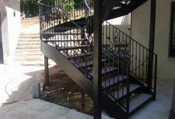 Escaliers sur le métal: caractéristiques de fabrication