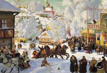 "La escritura en la pintura Kustódiev ""Maslenitsa"": recomendaciones"