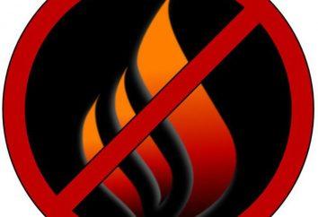 regulamentos de segurança contra incêndio para estudantes russos