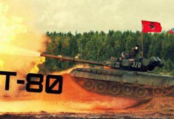 T-80: cechy, modyfikacje, ramion, zdjęcie