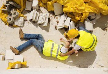 Zeituntersuchung eines Arbeitsunfalls. Bedingungen Untersuchung von Licht, schwerer, tödlich, eine Gruppe von Industrieunfällen
