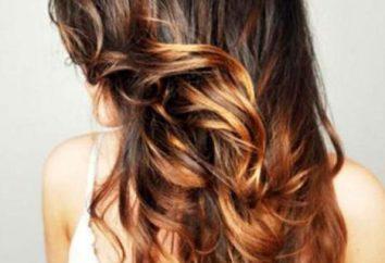 Ombre dla brunetek barwienia: zdjęcia