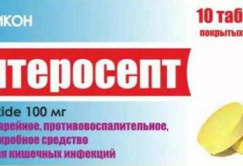 """""""Enterosept"""": Gebrauchsanweisungen, Indikationen. Das Heilmittel für Durchfall bei Erwachsenen"""