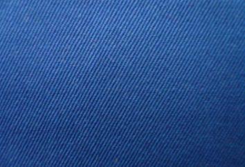 Skośnym (tkanina): opis, aplikacje, zdjęcia