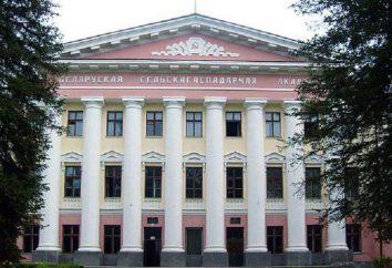 Białoruska Akademia Rolnicza: historia, wydziały i specjalności, wynik przechodząc