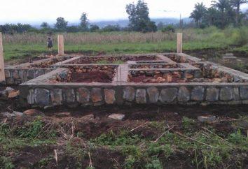 Criar uma base sólida para a casa com suas próprias mãos