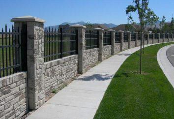 fondation de ruban sous la clôture: le dispositif et les calculs