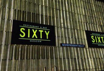 """Il ristorante si trova nel """"Moscow City"""", """"Sixty"""", 62 piano: un menu del ristorante """"Sixty"""" nel """"Moscow City"""""""