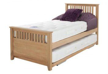 Wysuwny łóżko dla dwójki dzieci: zalety i cechy wyboru