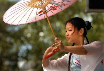 danza del ventaglio cinese. Ballo di piega cinese