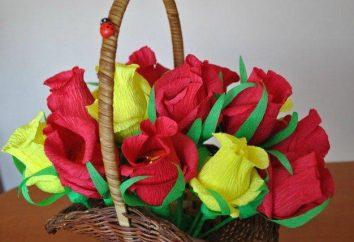 Blumenstrauß Süßigkeiten gefaltetes Papier mit seinen eigenen Händen