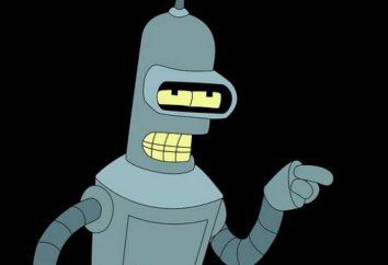 "Bender o robô. caráter fantástico da série animada ""Futurama"". Biografia, a personalidade."