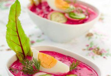 Borsch frío con remolacha: receta