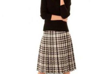 Dla delikatnej i eleganckiej spódnicy: plisowane