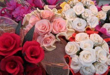 flores de papel – uma decoração interior requintado ou bouquet como um presente