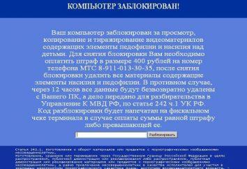 """""""Seu computador está bloqueado pelo Ministério da Administração Interna."""" Como faço para remover um vírus?"""