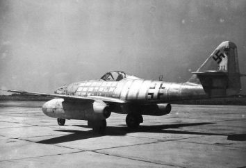 """jet tedesco """"Messerschmitt-262"""": la storia della creazione, le caratteristiche del progetto, le foto"""