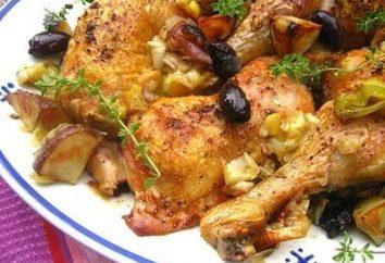 Come cucinare un delizioso cosce di pollo al forno con patate.