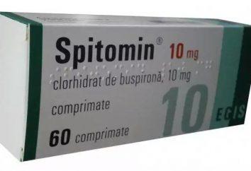 """Lek """"Spitomin"""": instrukcję obsługi, wskazań, przeciwwskazań"""