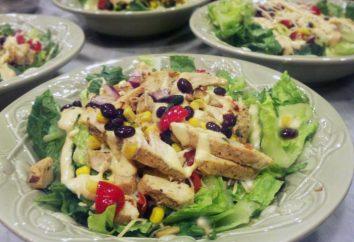 Salat mit Bohnen mit geräuchertem Huhn – so viel wie drei Rezepte!