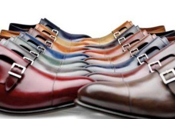 Types de chaussures pour hommes: nom avec photos