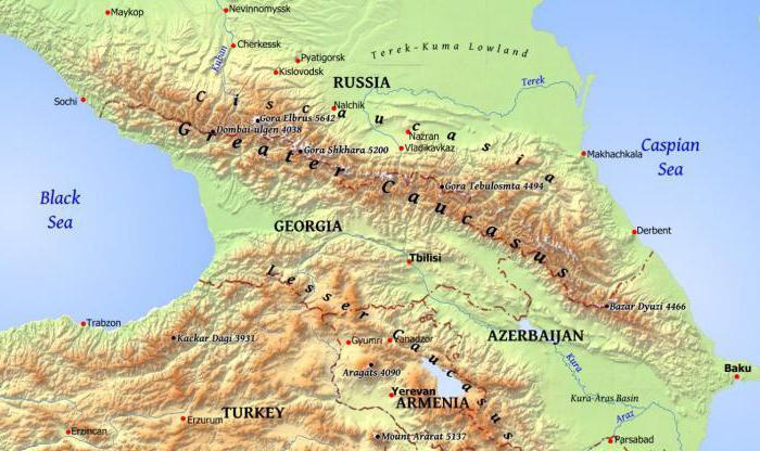 kaukasus region fluss