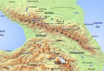 La posición geográfica de la región del Cáucaso, el territorio, las condiciones naturales