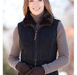 Fait peau de mouton gilets – pratique, à la mode et au chaud la solution pour votre famille