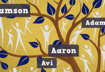 Lista dei nomi e cognomi degli uomini ebraica