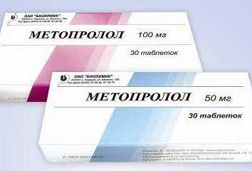 """""""Metoprolol"""": recensioni, indicazioni per l'uso, istruzioni e analoghi"""