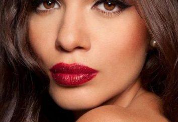 Maquillaje para el cabello y los ojos oscuros. Negro de maquillaje cabello y ojos marrones