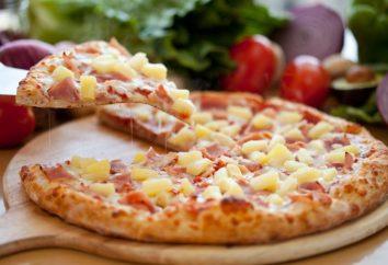 Pizza Hawaii: ein Rezept und Variationen von Füllungen