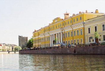 Yusupov Pałac w Petersburgu: adres, zdjęcia