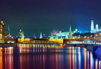 Notte cammina attraverso Mosca: Itinerari