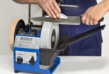 Máquina para afiar facas: tipos e descrições