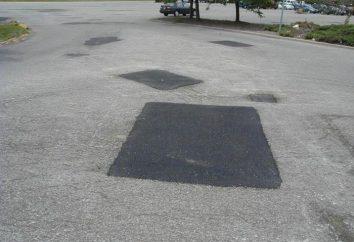 Patcher la surface de la route: la technologie, les méthodes, GOST