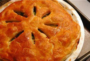 Kurnik tradycyjny przepis z ciasta francuskiego
