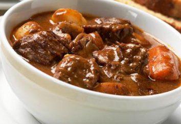 Quel est le goulasch? Goulash de sauce: une recette avec une photo (étape par étape)