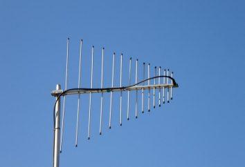 antena UHF. Antenas de televisão. antena interna UHF. antena UHF com as mãos