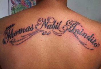 Piękny napis na tatuaże. Piękny napis przeniesienie tatuaż dla mężczyzn i kobiet
