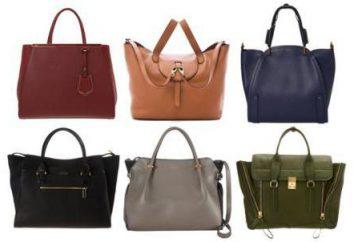 Tipi e stili di borse: descrizione, classificazione. Borse e lo stile