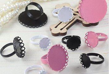 Die Grundlage für den Ring – ein wichtiges Element für die Schaffung von handgemachten Schmuck