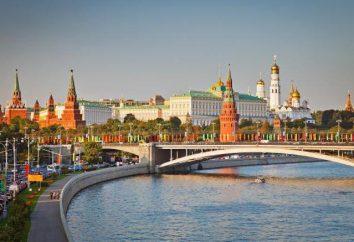 Moscou: la ville, leur description