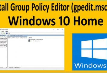 Il sistema non riesce a trovare gpedit.msc. Windows 10: come migliorare la situazione metodi più semplici?