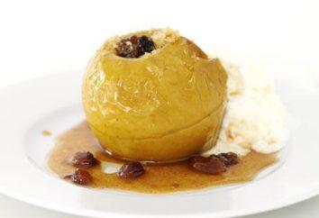 pommes au four: les avantages et les inconvénients délicieux dessert