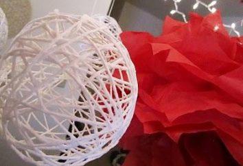 Comment décorer votre vie, en utilisant des boules de fil?