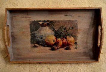 """Vassoio di legno: un modo di decorare tecnica del """"decoupage"""""""