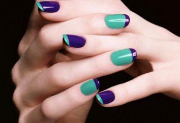 Colore viola manicure – stagione di cigolio