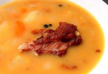 Kochen Suppe mit geräuchertem Rippen
